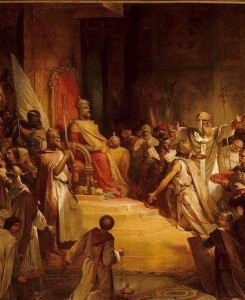 Baldwin IX, Count of Flanders is crowned Emperor of Constantinople, under the name of Baldwin I of Constantinople.