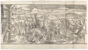 Pieter Coecke van Aelst (Netherlandish, Aelst 1502–1550 Brussels) Festival of the New Moon from the frieze Ces Moeurs et fachons de faire de Turcz (Customs and Fashions of the Turks), 1553 Netherlandish,  Woodcut; Sheet: 13 15/16 × 25 1/16 in. (35.4 × 63.7 cm) The Metropolitan Museum of Art, New York, Harris Brisbane Dick Fund, 1928 (28.85.4) http://www.metmuseum.org/Collections/search-the-collections/422768
