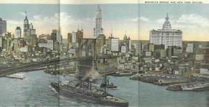 1919_New_York_Skyline_Singer_Woolworth_Municipal_Bldgs_OM