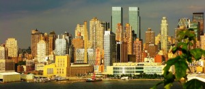 Panoramic view of Manhattan from New Jersey